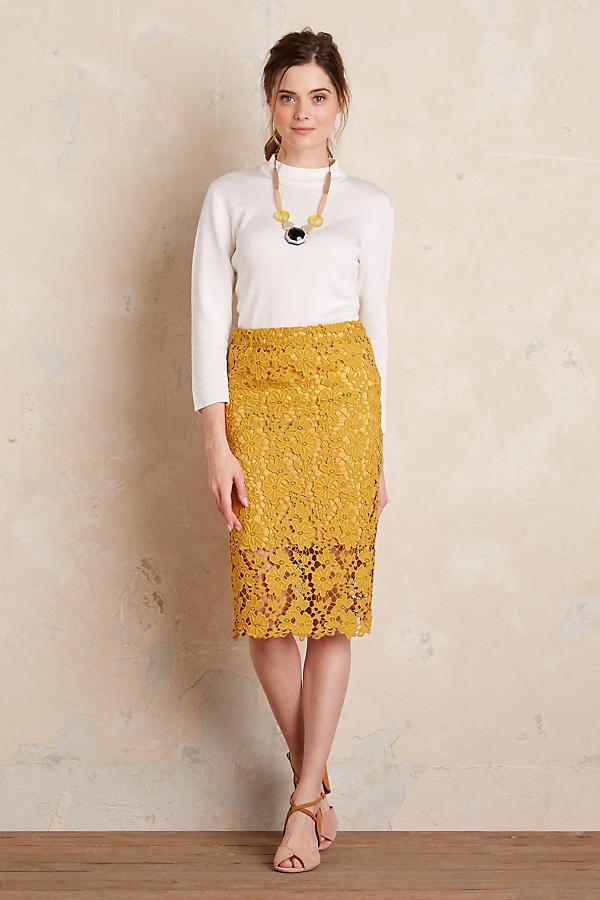 yellow-pencil-skirt-lace-white-blouse-necklace-hairr-pony-tan-shoe-sandalh-spring-summer-dinner.jpg