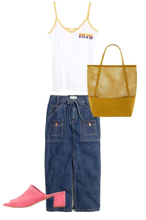 blue-navy-pencil-skirt-yellow-bag-white-top-tank-pink-shoe-sandalh-mules-spring-summer-weekend.jpg