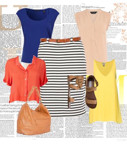 blue-navy-pencil-skirt-blue-navy-tee-peach-top-orange-top-yellow-cami-cognac-shoe-sandals-cognac-bag-hobo-belt-stripe-print-howtowear-fashion-style-outfit-spring-summer-weekend.jpg