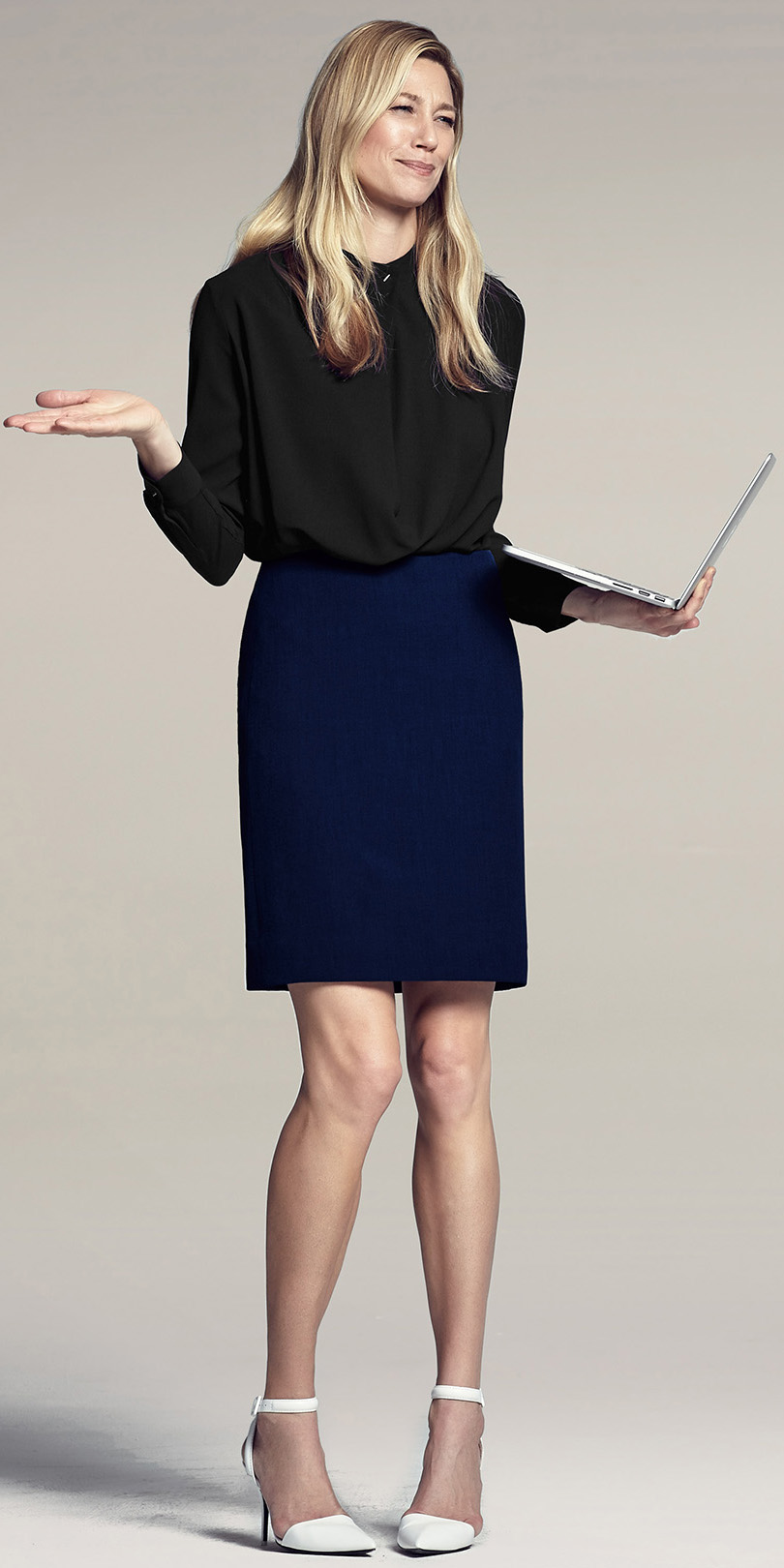 blue-navy-pencil-skirt-black-top-blouse-white-shoe-pumps--howtowear-fashion-style-outfit-spring-summer-blonde-work.jpg