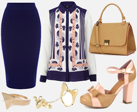 blue-navy-pencil-skirt-blue-navy-top-blouse-tan-bag-tan-shoe-pumps-ring-spring-summer-work.jpg