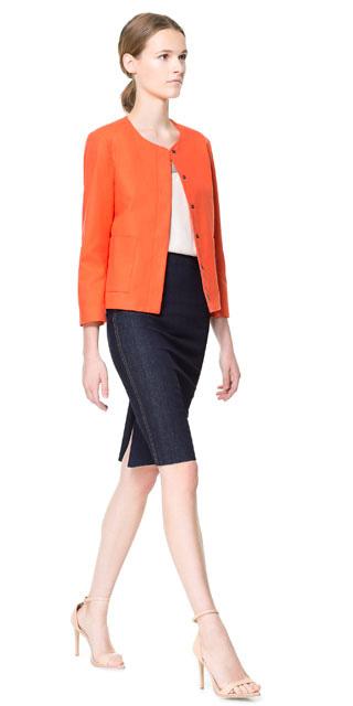blue-navy-pencil-skirt-orange-jacket-pony-tan-shoe-sandalh-spring-summer-hairr-lunch.jpg