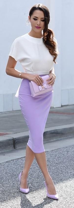 purple-light-pencil-skirt-white-top-pony-pink-bag-purple-shoe-pumps-spring-summer-brun-dinner.jpg