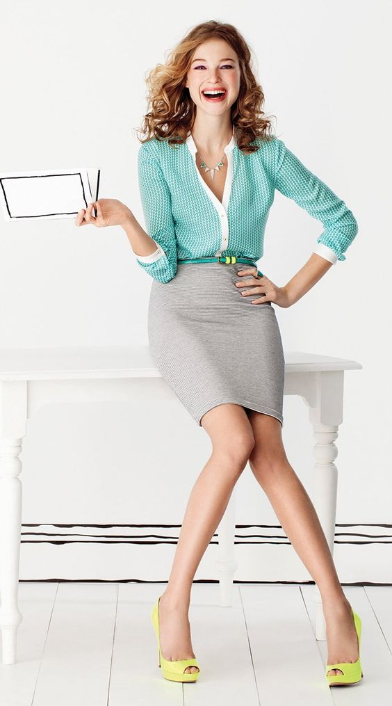 062157bb8 grayl-pencil-skirt-green-light-top-blouse-necklace-