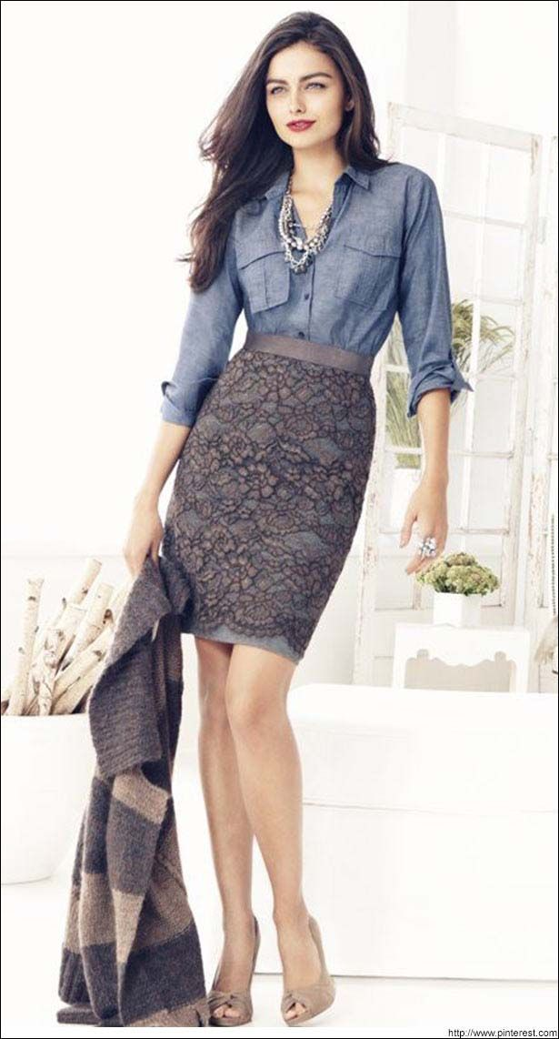 grayd-pencil-skirt-blue-med-collared-shirt-necklace-lace-tan-shoe-pumps-pearl-howtowear-fashion-style-outfit-spring-summer-brun-lunch.jpg