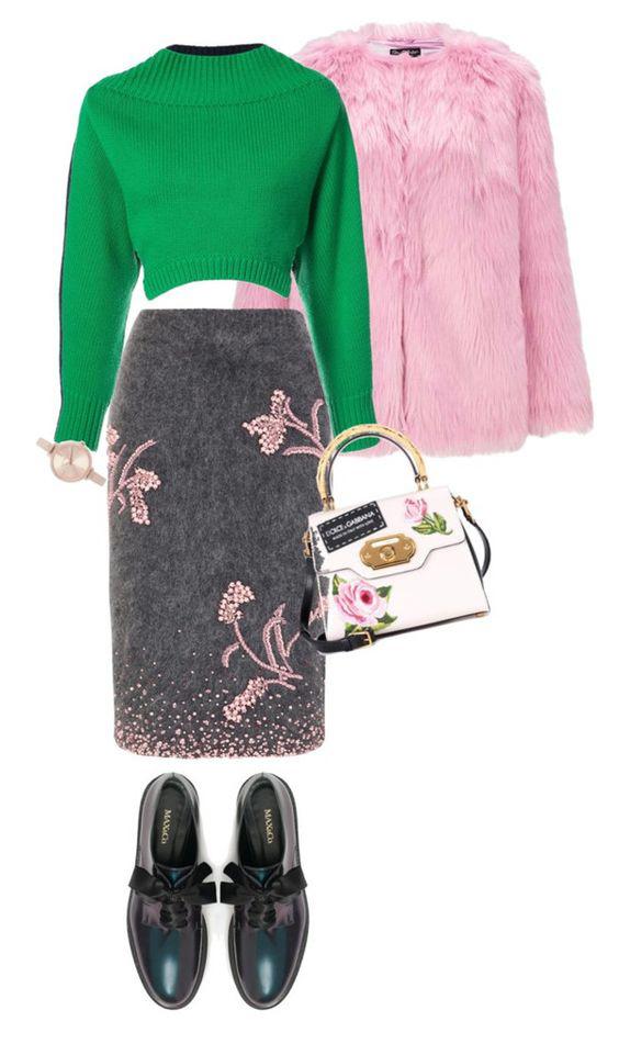 grayd-pencil-skirt-green-emerald-sweater-white-bag-watch-pink-light-jacket-coat-fur-black-shoe-brogues-fall-winter-weekend.jpg