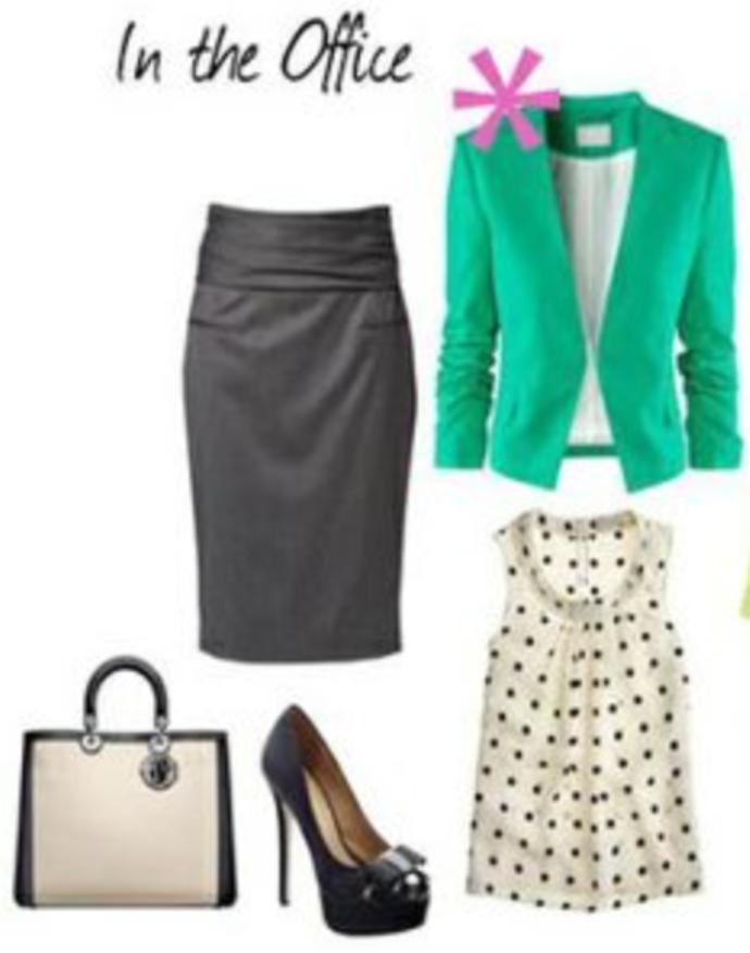 grayd-pencil-skirt-white-top-blouse-white-bag-hand-howtowear-style-fashion-fall-winter-green-emerald-jacket-blazer-black-shoe-pumps-work-office.jpg
