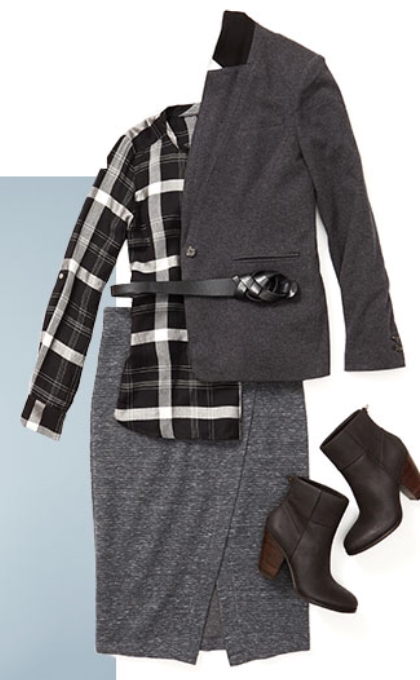 grayd-pencil-skirt-black-plaid-shirt-grayd-jacket-blazer-belt-howtowear-style-fashion-fall-winter-black-shoe-booties-work.jpg