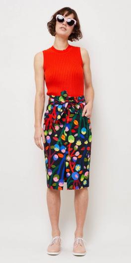 black-pencil-skirt-print-red-top-brun-bob-sun-tan-shoe-brogues-spring-summer-weekend.jpg