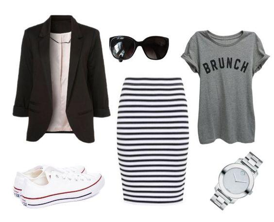 black-pencil-skirt-stripe-white-shoe-sneakers-watch-sun-grayl-graphic-tee-black-jacket-blazer-spring-summer-weekend.jpg