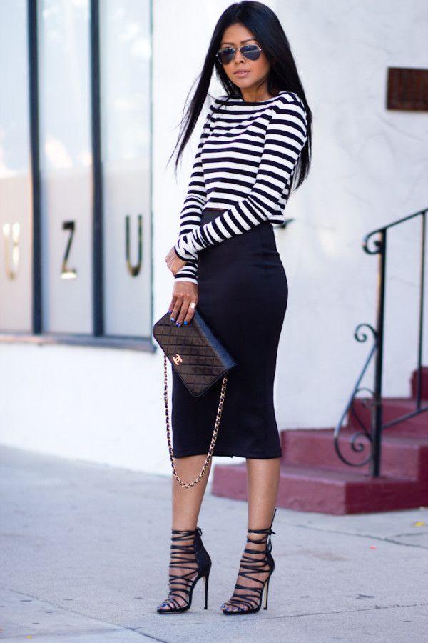 black-pencil-skirt-black-tee-stripe-black-bag-black-shoe-sandalh-sun-fall-winter-brun-dinner.jpg