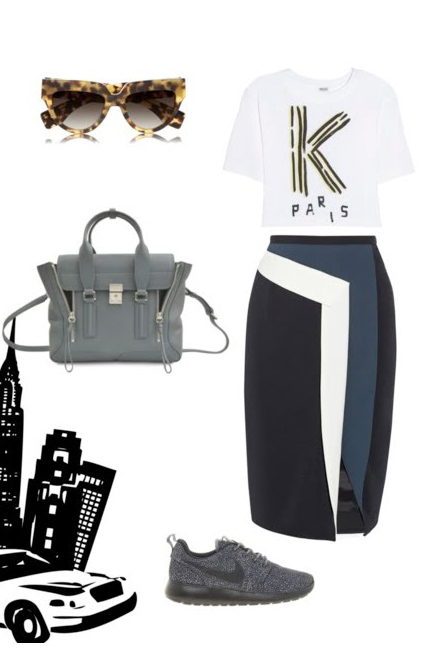 black-pencil-skirt-white-tee-howtowear-fashion-style-outfit-spring-summer-graphic-gray-shoe-sneakers-crossbody-gray-bag-tortoise-sun-travel-weekend.jpg