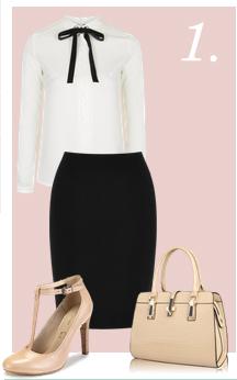 black-pencil-skirt-white-top-blouse-bow-tan-bag-tan-shoe-pumps-howtowear-fashion-style-outfit-spring-summer-work.jpg