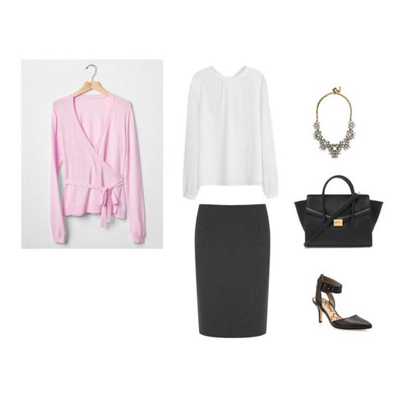 black-pencil-skirt-white-top-pink-light-cardigan-black-bag-black-shoe-pumps-bib-necklace-howtowear-fashion-style-outfit-spring-summer-work.jpg