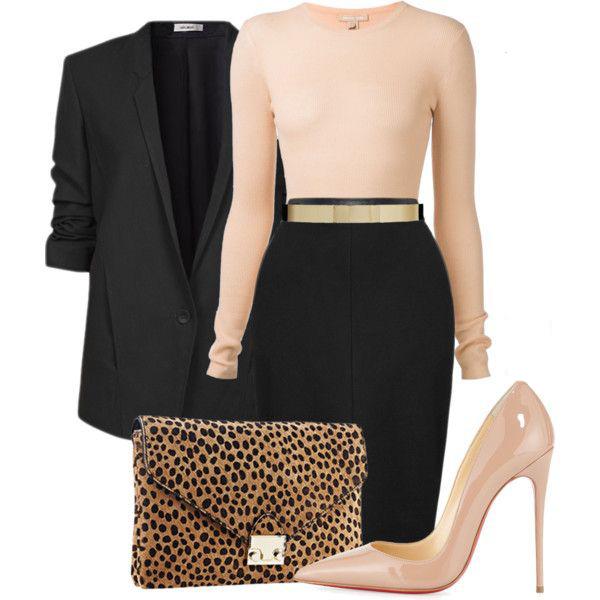 black-pencil-skirt-o-tan-sweater-belt-howtowear-fashion-style-outfit-fall-winter-black-jacket-blazer-tan-shoe-pumps-match-leopard-tan-bag-clutch-work.jpg