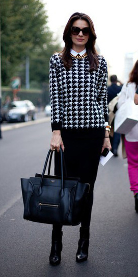 black-pencil-skirt-black-sweater-houndstooth-print-chain-necklace-black-bag-tote-sun-black-tights-black-shoe-booties-fall-winter-brun-work.jpg