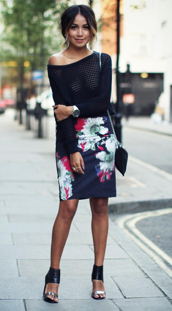 black-pencil-skirt-black-sweater-print-howtowear-fashion-style-outfit-spring-summer-floral-black-bag-knit-sheer-black-shoe-sandalh-bun-brun-dinner.jpg