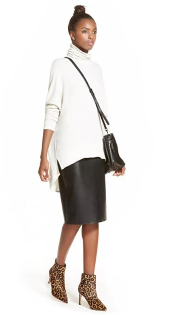 black-pencil-skirt-white-sweater-bun-slouchy-howtowear-style-fashion-fall-winter-black-bag-leopard-tan-shoe-booties-turtleneck-brun-lunch.jpg