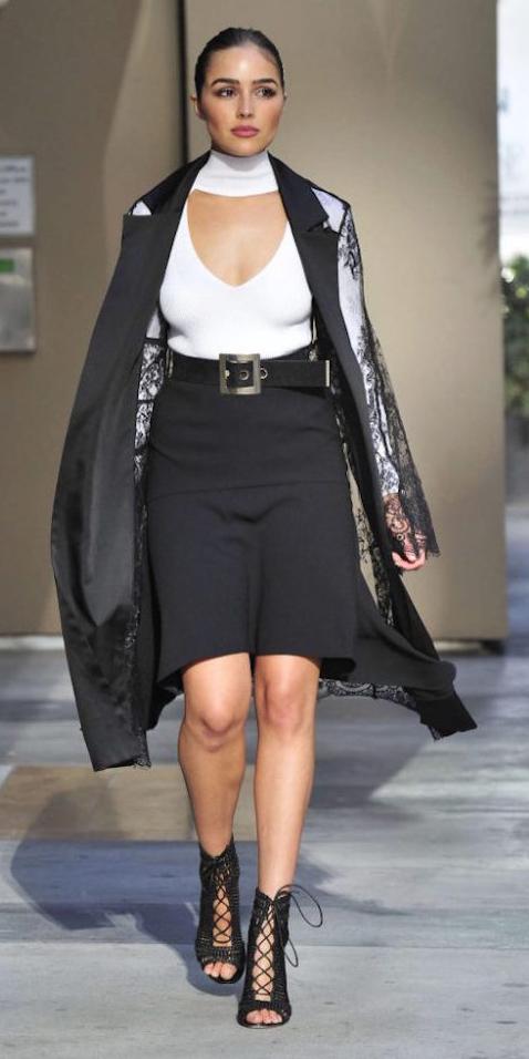 black-pencil-skirt-white-top-blouse-belt-hairr-bun-black-jacket-coat-lace-sheer-black-shoe-sandalh-oliviaculpo-fall-winter-dinner.jpg