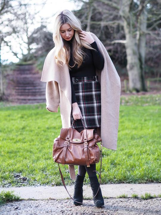 black-pencil-skirt-black-sweater-plaid-print-knee-howtowear-style-fashion-fall-winter-black-tights-black-shoe-booties-cognac-bag-tan-jacket-coatigan-turtleneck-blonde-dinner.jpg