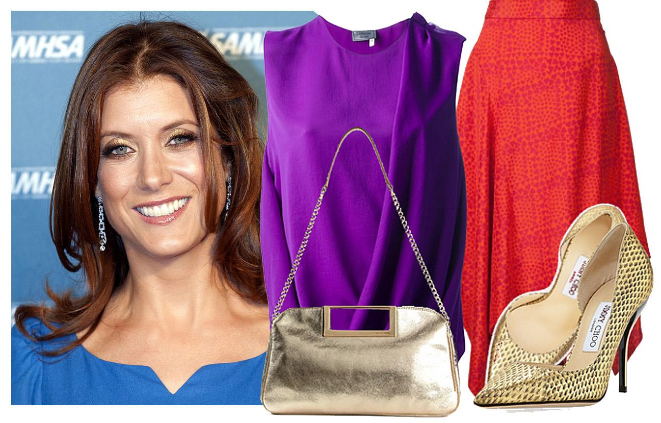 red-midi-skirt-purple-royal-top-blouse-tan-bag-tan-shoe-pumps-metallic-howtowear-fashion-style-outfit-spring-summer-hairr-dinner.jpg