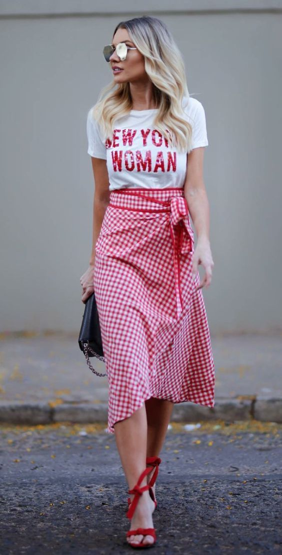 red-midi-skirt-gingham-white-graphic-tee-sun-blonde-red-shoe-sandalh-spring-summer-lunch.jpg