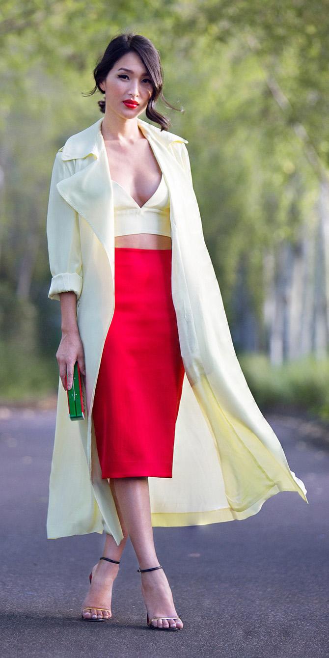 red-midi-skirt-white-crop-top-white-jacket-coat-trench-bun-spring-summer-brun-dinner.jpg
