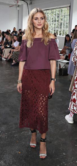 burgundy-midi-skirt-burgundy-top-offshoulder-oliviapalermo-hairr-white-shoe-sandalh-sheer-seethrough-spring-summer-lunch.jpg