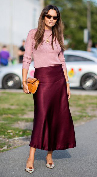 burgundy-midi-skirt-silk-cognac-bag-pink-light-sweater-sun-hairr-white-shoe-pumps-fall-winter-work.jpg