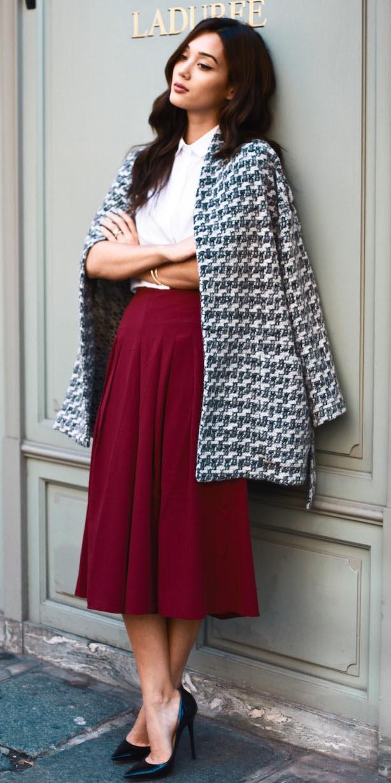 burgundy-midi-skirt-white-collared-shirt-white-jacket-coat-tweed-black-shoe-pumps-fall-winter-brun-work.jpg