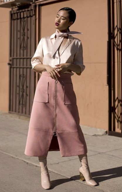 pink-light-midi-skirt-white-blouse-brun-pony-white-shoe-boots-fall-winter-dinner.jpg