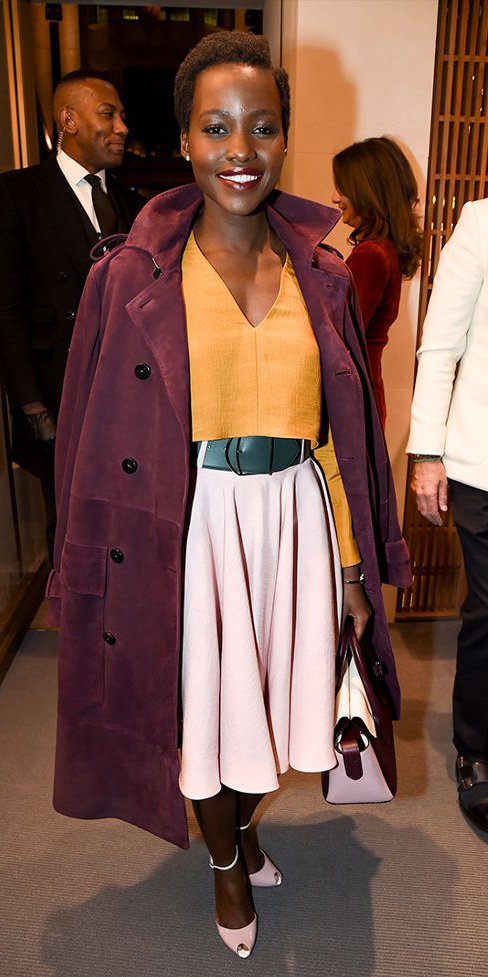 how-to-style-pink-light-midi-skirt-wide-belt-yellow-top-burgundy-jacket-coat-brun-pink-shoe-pumps-fall-winter-fashion-dinner.jpg