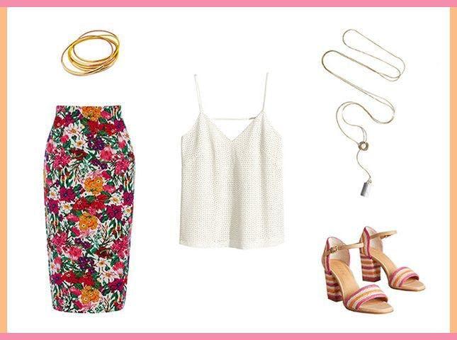 pink-magenta-midi-skirt-bracelet-necklace-pink-shoe-sandalh-white-floral-print-cami-spring-summer-dinner.jpg