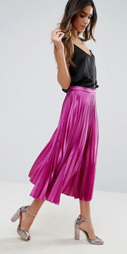 pink-magenta-midi-skirt-black-cami-pleated-gray-shoe-sandalh-spring-summer-hairr-dinner.jpg