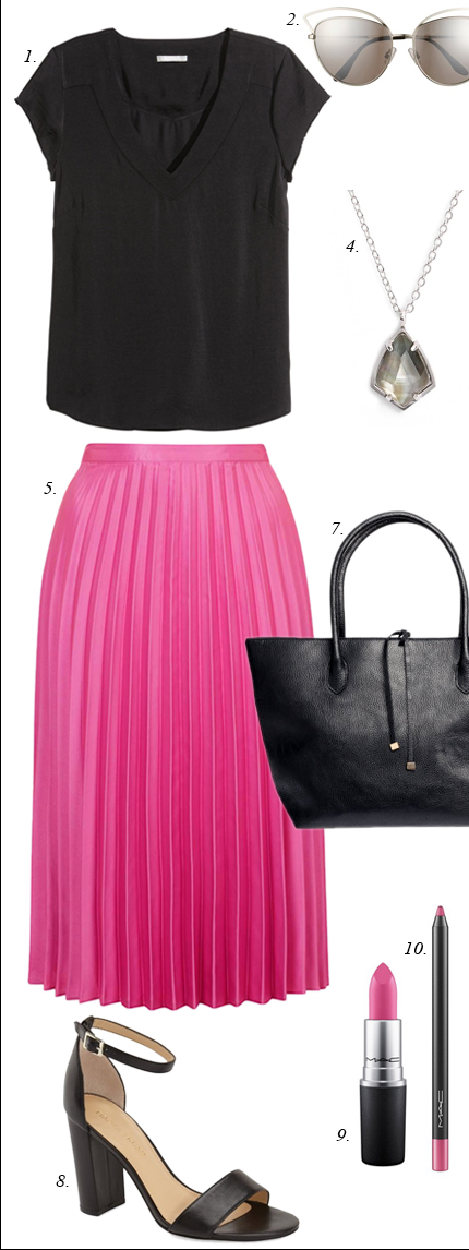 r-pink-magenta-midi-skirt-black-top-black-bag-black-shoe-sandalh-necklace-pend-sun-howtowear-fashion-style-outfit-spring-summer-pleat-work.jpg