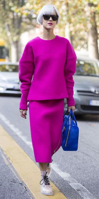 pink-magenta-midi-skirt-clear-shoe-booties-cobalt-blue-bag-sun-pink-magenta-sweater-fall-winter-lunch.jpg