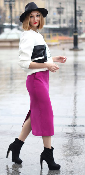 r-pink-magenta-midi-skirt-white-sweater-howtowear-fashion-style-outfit-fall-winter-pencil-black-shoe-booties-hat-black-bag-clutch-night-hairr-dinner.jpg