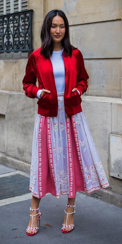 pink-magenta-midi-skirt-red-jacket-bomber-white-shoe-sandalh-spring-summer-brun-lunch.jpg