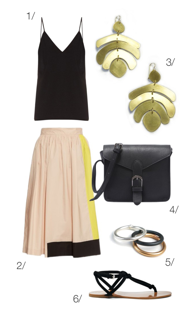 how-to-style-tan-midi-skirt-black-cami-earrings-black-bag-black-shoe-sandals-spring-summer-fashion-lunch.jpg