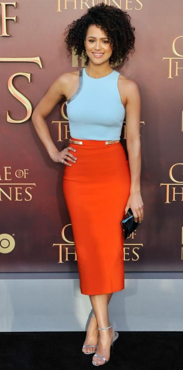 orange-midi-skirt-blue-light-top-gray-shoe-sandalh-silver-spring-summer-brun-dinner.jpg