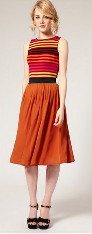 orange-midi-skirt-r-pink-magenta-top-stripe-black-shoe-sandalw-wear-outfit-spring-summer-bun-blonde-lunch.jpg