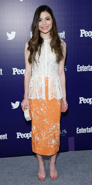 orange-midi-skirt-white-top-lace-white-bag-clutch-print-gray-shoe-sandalh-mirandacosgrove-untucked-wear-outfit-spring-summer-brun-dinner.jpg