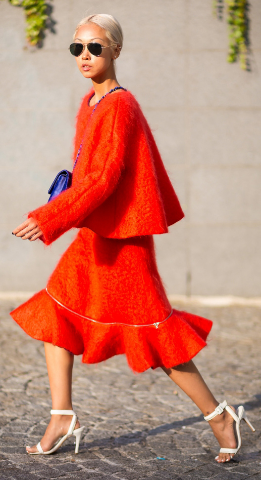 orange-midi-skirt-orange-sweater-blue-bag-blonde-bun-sun-white-shoe-sandalh-fall-winter-dinner.jpg