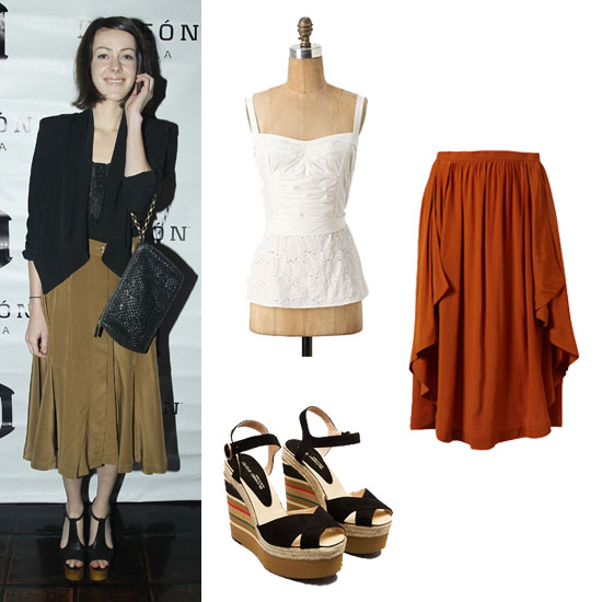 orange-midi-skirt-white-cami-wear-outfit-fall-winter-wedge-black-shoe-sandalw-dinner.jpg