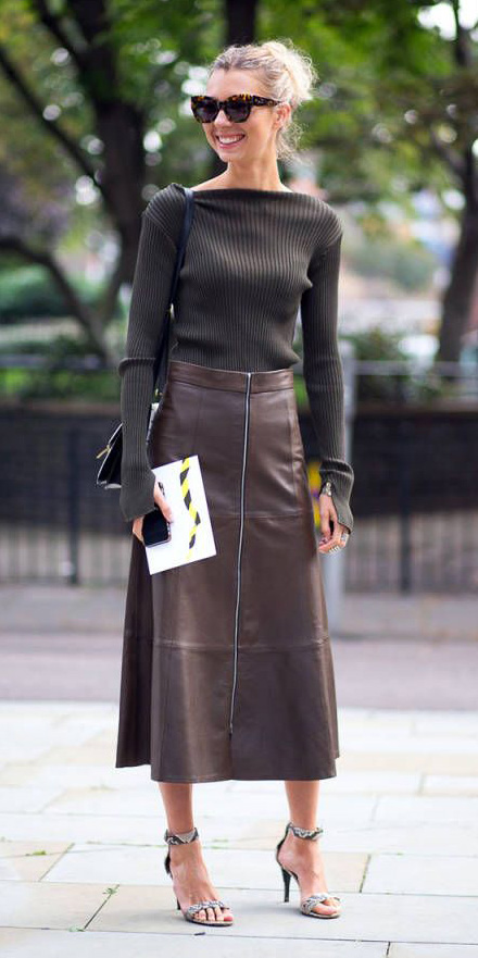 brown-midi-skirt-leather-bun-brown-sweater-white-shoe-sandalh-fall-winter-blonde-lunch.jpg