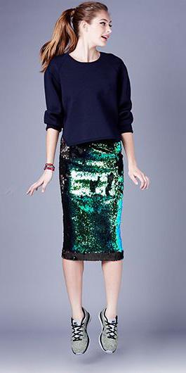 931ac4c01 green-emerald-midi-skirt-blue-navy-sweater-pony-