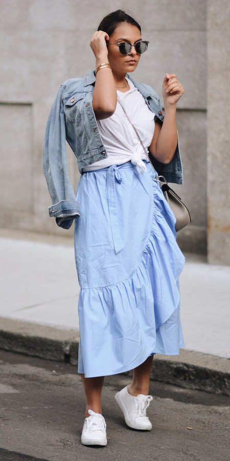 blue-light-midi-skirt-wrap-white-tee-tied-sun-bun-blue-light-jacket-jean-white-shoe-sneakers-gray-bag-spring-summer-brun-weekend.jpg