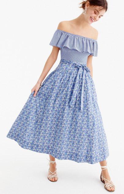 blue-light-midi-skirt-print-blue-light-top-offshoulder-earrings-white-shoe-sandals-hairr-spring-summer-lunch.jpg