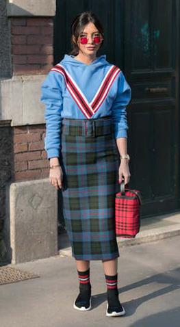 blue-med-midi-skirt-plaid-green-dark-midi-skirt-blue-med-sweater-sweatshirt-hoodie-red-bag-black-shoe-sneakers-sun-hairr-fall-winter-work.jpg