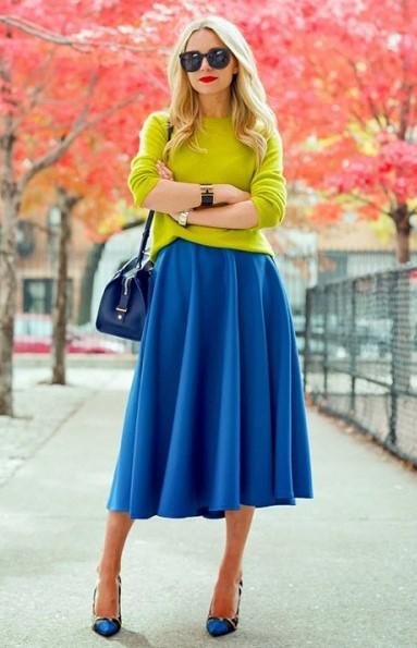 blue-med-midi-skirt-yellow-sweater-blue-bag-blue-shoe-pumps-blonde-sun-fall-winter-lunch.jpg